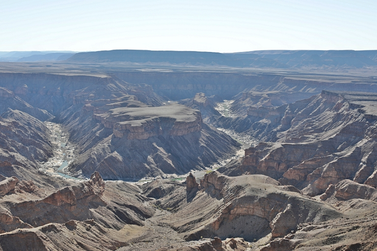 Blick in den Fish River Canyon in Namibia