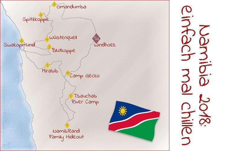 Namibia 2018: Tourverlauf