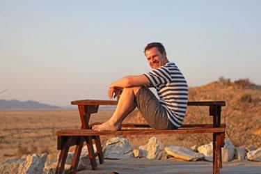 Dirk auf Camp Gecko, Namibia
