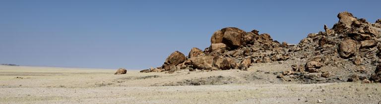 traumhafte Landschaft bei Mirabib, Namibia