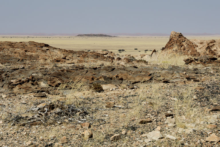 Blick in die Landschaft bei Mirabib, Namibia