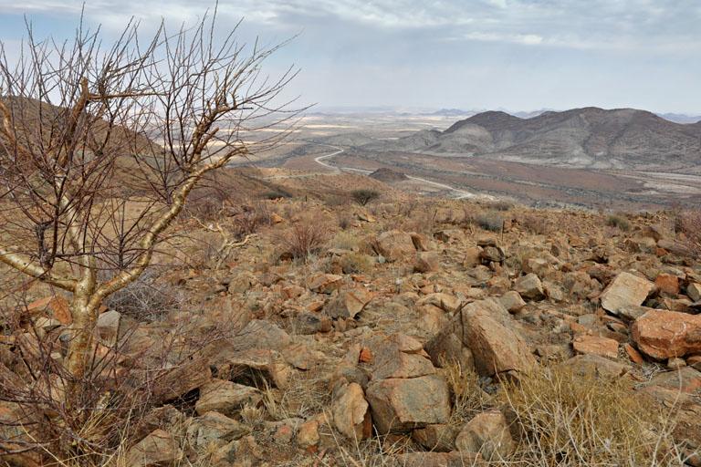 Aussicht vom Spreetshoogte Pass in Namibia