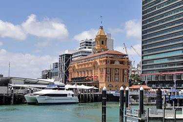 das Ferry Building in Auckland, Neuseeland