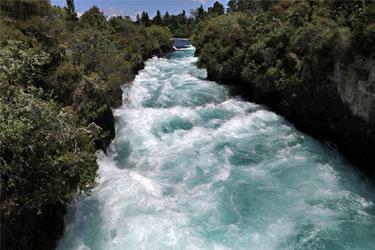 an den Huka Falls bei Taupo, Neuseeland