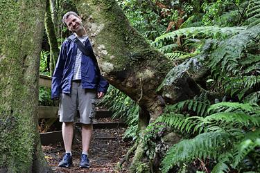 Dirk im Pukaha Wildlife Center, Neuseeland