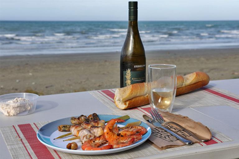 Seafood am STrand von Marfells Beach Campinground, Neuseeland