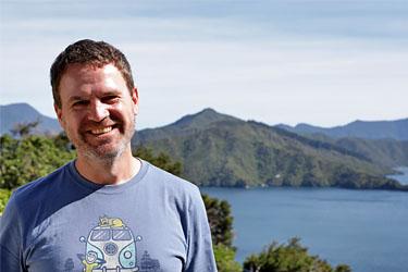 Dirk am Queen Charlotte Sound, Neuseeland