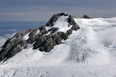 tolle Spuren im Gletschereis, Helikopterflug, Neuseeland
