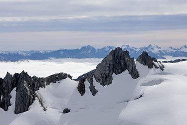 sagenhafte Ausblicke auf die Gletscher, Helikopter, Neuseeland