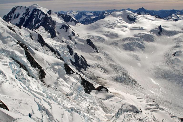 die Gletscher aus der Vogelperspektive, Neuseeland