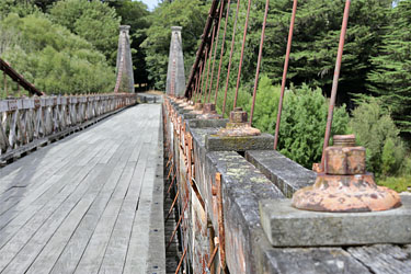clifden suspension bridge, detail, neuseeland