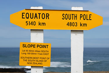 am slope point, neuseeland