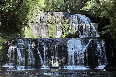 purakaunui falls, catlins, neuseeland