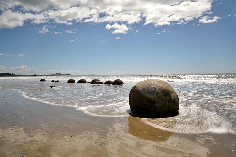 moeraki boulders, neuseeland