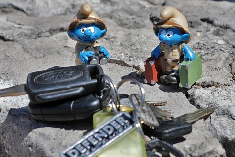Safari-Schlümpfe und ein Landyschlüssel