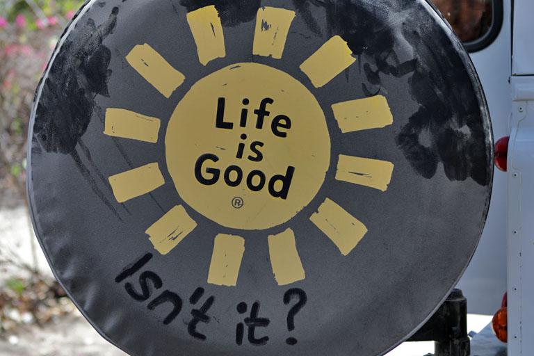 life is good unsere reifenabdeckung