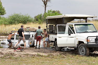 Rettungsaktion Landy Teil 1, Moremi, Botswana