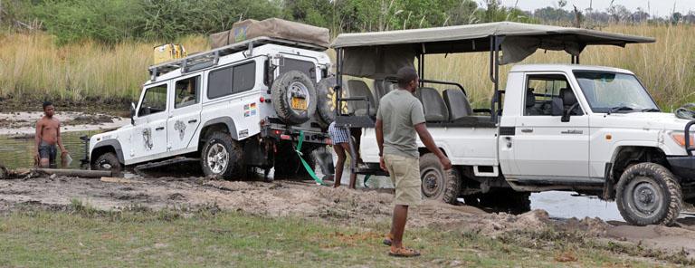 Rettungsaktion Landy Teil 3, Moremi, Botswana