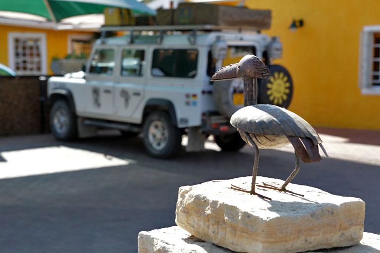 unser Landy in der Casa Piccolo, Windhoek, Namibia
